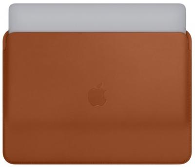 "APPLE Leather Sleeve 13"" Saddle Brown"