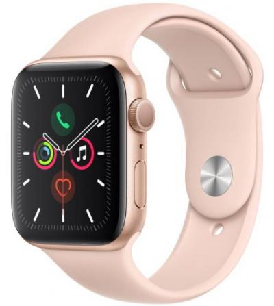 APPLE Watch 5 44mm Gold Aluminium with Pink Sport Band