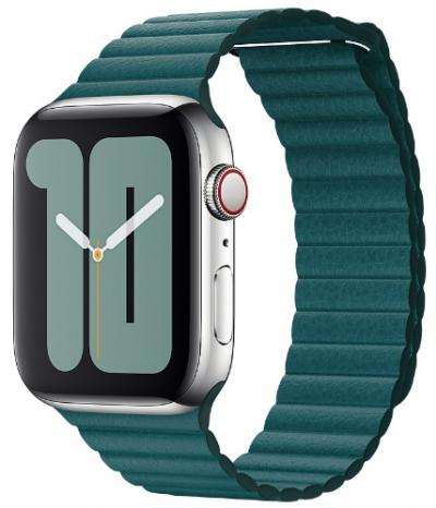 APPLE Remienok 44mm Peacock Leather Loop - Large