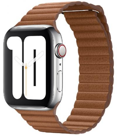 APPLE Remienok 44mm Saddle Brown Leather Loop - Large