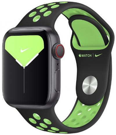 APPLE Remienok 40mm Black/Lime Blast Nike Sport Band