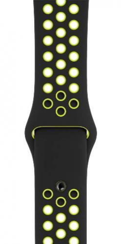 APPLE Remienok 44mm Black/Volt Nike Sport Band