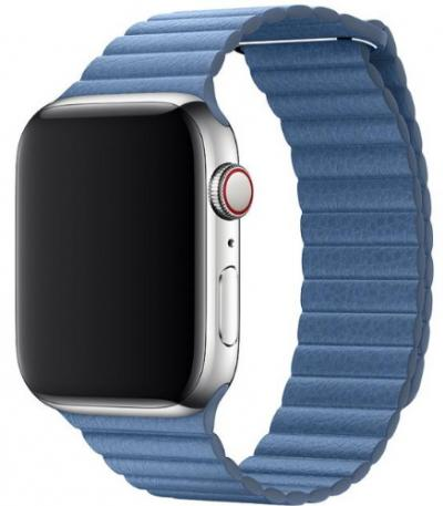 APPLE Remienok 44mm Cornflower Leather Loop - Large