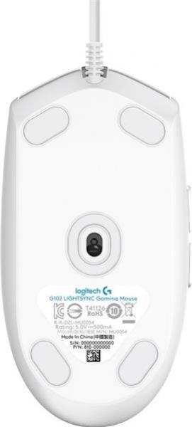LOGITECH G102 Lightsync herná myš biela