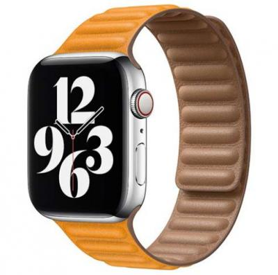 APPLE Remienok 40mm California Poppy Leather Link - Small