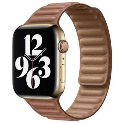 APPLE Remienok 40mm Saddle Brown Leather Link - Large