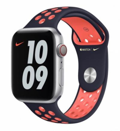 APPLE Remienok 40mm Blue Black/Bright Mango Nike Sport Band