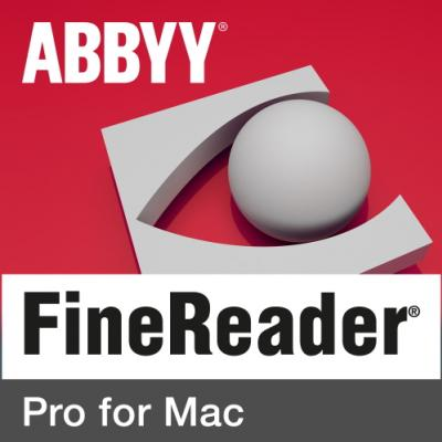 ABBYY FineReader Pro for Mac Single User License (ESD) EDU Perpetual