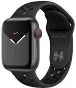 APPLE Remienok 44mm Anthracite/Black Nike Sport Band