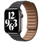 APPLE Remienok 44mm Black Leather Link - Small