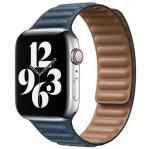 APPLE Remienok 40mm Baltic Blue Leather Link - Large