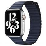 APPLE Remienok 44mm Diver Blue Leather Loop - Large
