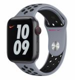 APPLE Remienok 44mm Obsidian Mist/Black Nike Sport Band